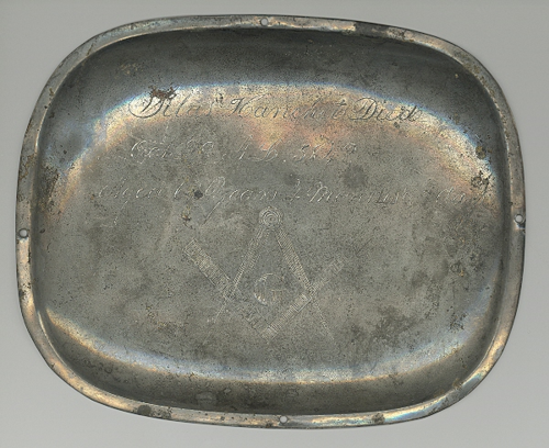 1848 Coffin Plate from B. L. Massey Collection