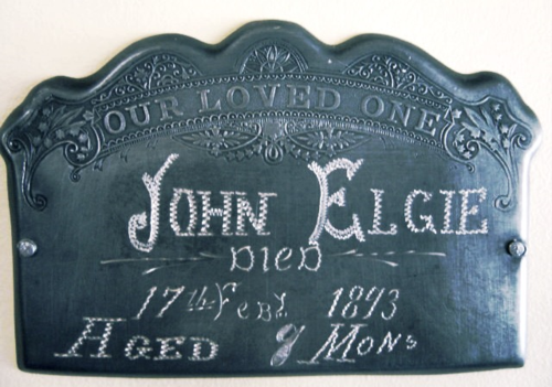 1873 Coffin Plate from B. L. Massey Collection