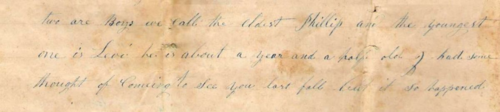 1847 Letter Levi Excerpt