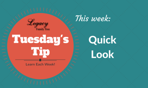 Tuesday's Tip - Quick Look