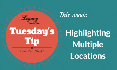 TT - Highlighting Multiple Locations