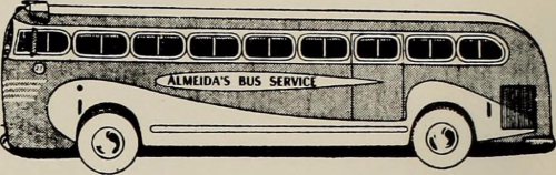 Almeida' Bus Service Advertisement in New Bedford Textile School's Yearbook The Fabricator (1961). Image Source: Internet Archive.