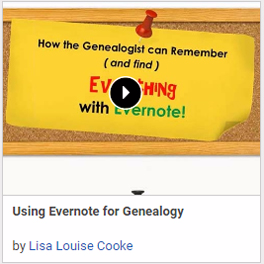 Using Evernote for Genealogy