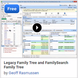 Legacy Family Tree and FamilySearch Family Tree