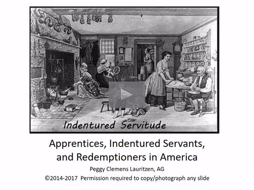 Legacy News: Apprentices, Indentured Servants, and ...
