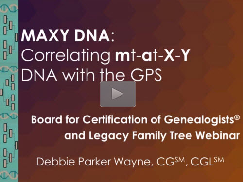 MAXY DNA: Correlating mt-at-X-Y DNA with the GPS