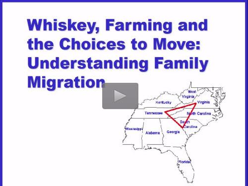 New Bonus Webinar - Understanding Family Migration by J. Mark Lowe