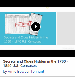 1790 - 1840 Census Secrets Uncovered