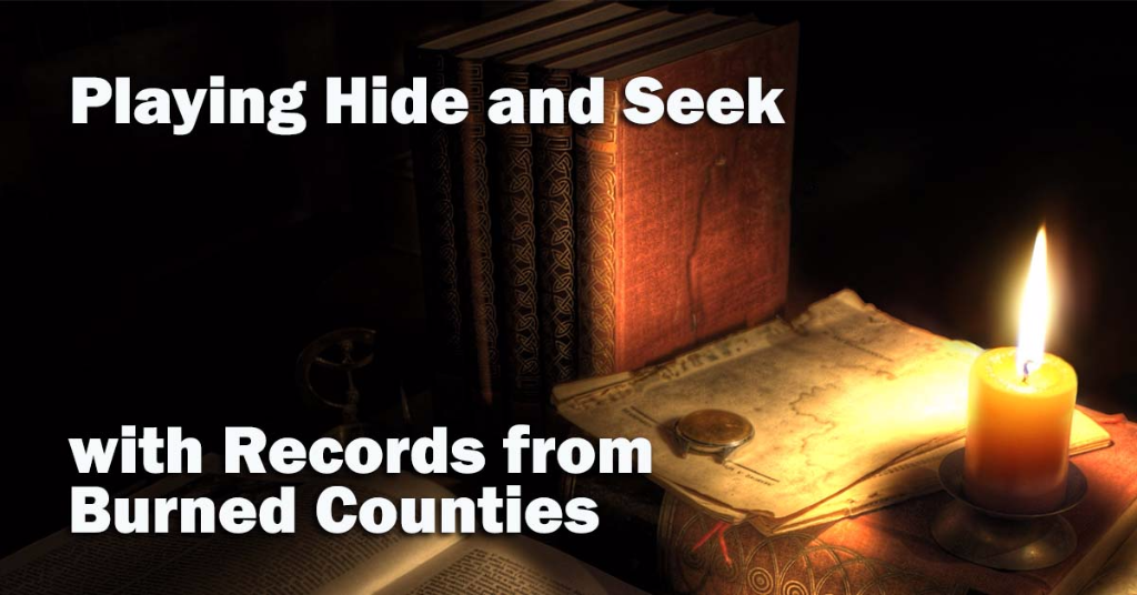 Legacy News: Playing Hide and Seek with Records from Burned Counties