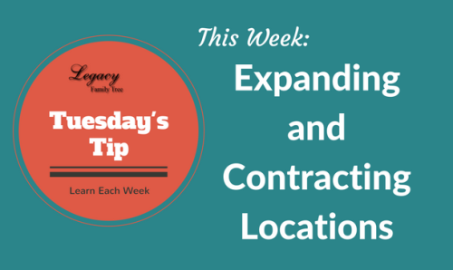 Tuesday's Tip – Expanding and Contracting Locations (Beginner)