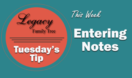 Tuesday's Tip – Entering Notes (Beginner)