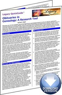 Obituaries in Genealogy