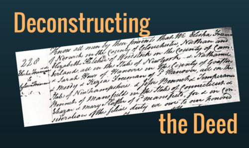 Deconstructing the Deed