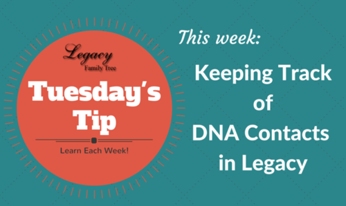 Keeping Track of DNA Contacts in Legacy