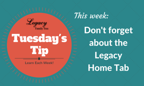 Don't forget about the Legacy Home Tab