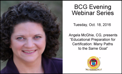 Educational Preparation for Certification: Many Paths to the Same Goal by Angela Packer McGhie, CG
