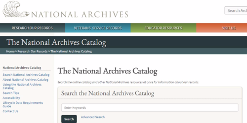 Using the National Archives and Records Administration (NARA) Online Catalog for Research