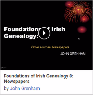 Foundations of Irish Genealogy 8: Newspapers