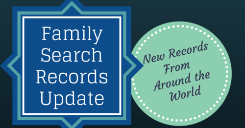 FamilySearch Records Update