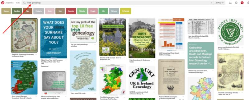 Pinterest-irish-genealogy-search