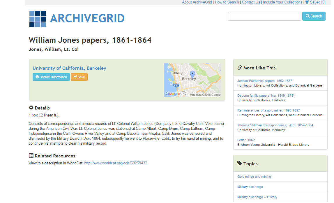 Legacy News: Using ArchiveGrid for Your Genealogy