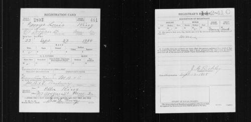 King, George - WWI draft registration