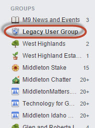 Legacy News: Brand New! Join our Legacy User Group on