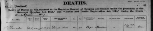 Return of Deaths at Sea (BT 159/8), Apr 1877, page 68. Accessed at BMD Register.com