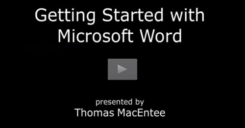Getting Started with Microsoft Word