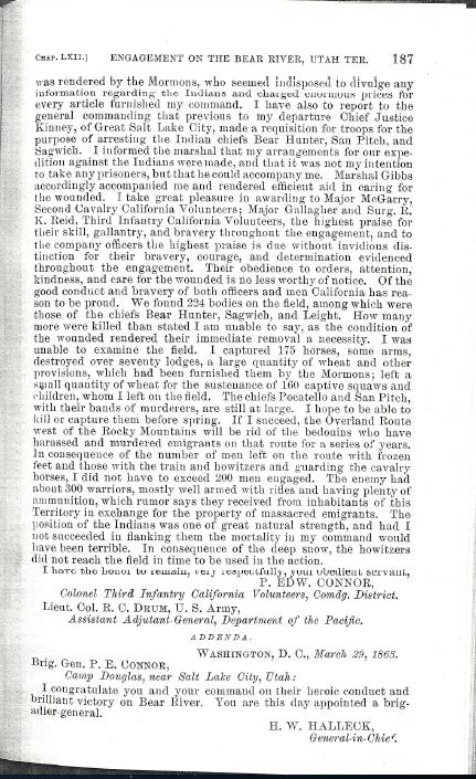 29 Jan 1863 – Engagement on the Bear River, Utah Ter. [1]