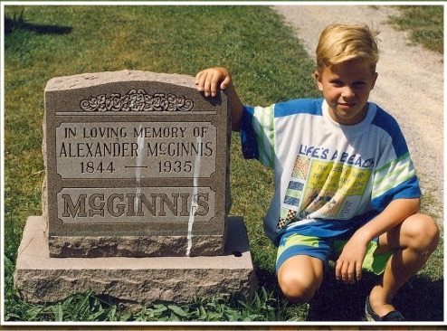 McGinnis Alex Cemetery Tombstone