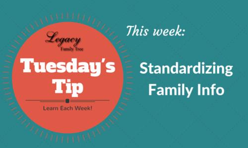TT - Standardizing Family Info