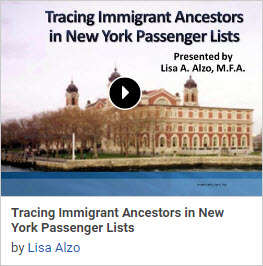 Legacy News Got Immigrant Ancestors New 3 Part Bonus Immigration Webinar Series By Lisa Alzo