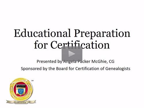 GeneaWebinars: Educational Preparation for Certification - free BCG ...