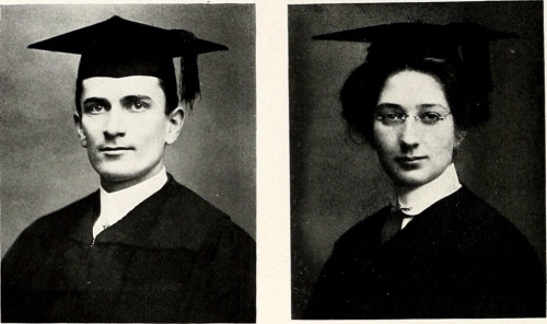 Photographs of Graduates, Lebanon Valley College Bizarre (1914). Image source: Internet Archive.