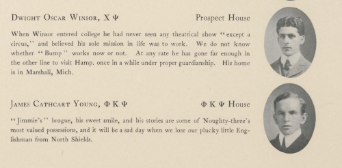 Amherst College Classbook (1903). Image Source: Digital Commonwealth.