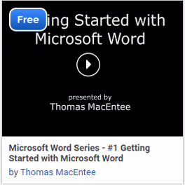 Microsoft Word Series - #1 Getting Started with Microsoft Word