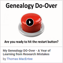 My Genealogy DO-Over - A Year of Learning from Research Mistakes