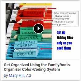 Get Organized Using the FamilyRoots Organizer Color-Coding System