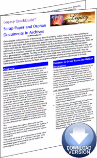 Scrap Paper and Orphan Docs in Archives