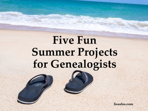 Summer Genealogy Projects