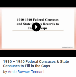 1910-1940 Federal Censuses and State Census Records to Fill the Gaps