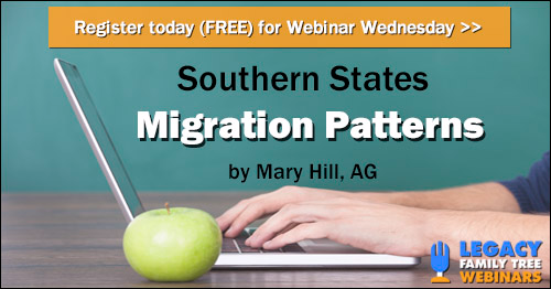 Register for Webinar Wednesday - Southern States Migration Patterns by Mary Hill, AG