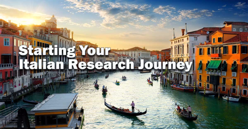 Starting Your Italian Research Journey