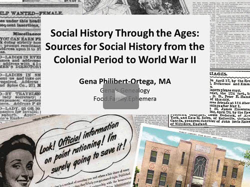 Social History through the Ages: Sources for Social History from the Colonial Period to World War II