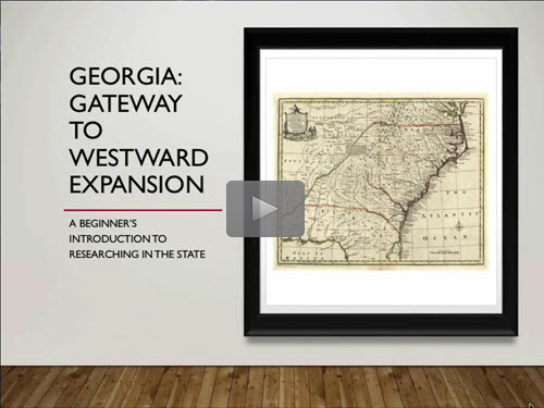 Georgia: Gateway to Westward Expansion - free Rorey Cathcart now online for limited time
