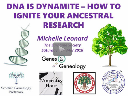 DNA is Dynamite - How to Ignite Your Ancestral Research by Michelle Leonard