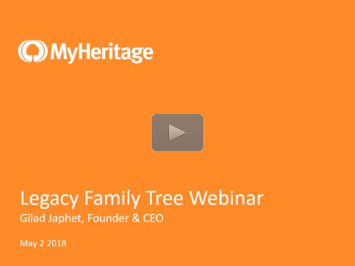 Legacy News: The Birth of MyHeritage and the Bright Future