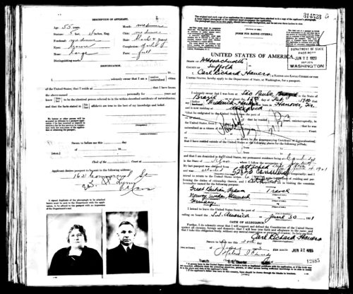 Passport Abraham Jacobs 1923