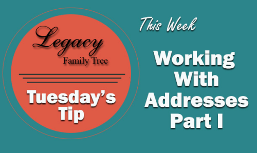 Tuesday's Tip - Working With Addresses Part I (Intermediate)